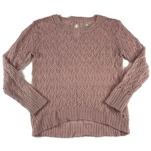 Lauren Conrad blush open knit sweater EUC